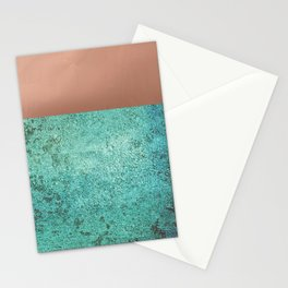 NEW EMOTIONS - ROSE & TEAL Stationery Cards
