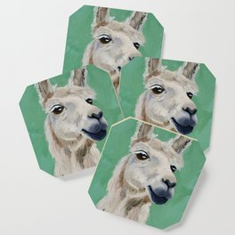 Fluffy White Wise One Coaster