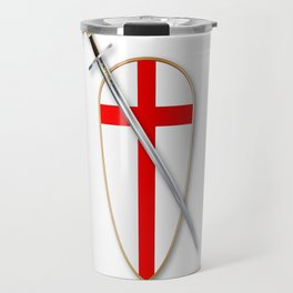 Crusaders Shield and Sword Travel Mug