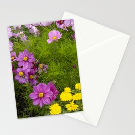 Alaskan Colorful Wild Flowers Serpentining Through Lush Grass Stationery Cards