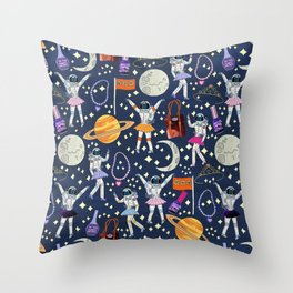 Dancing Across Galaxies Throw Pillow