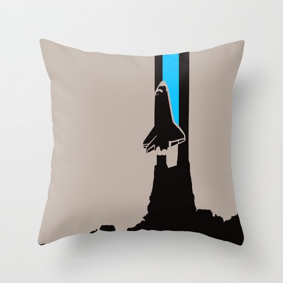Launch me - The Final Flight of the Space Shuttle Throw Pillow