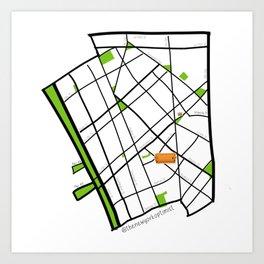WEST VILLAGE NEIGHBORHOOD MAP SKETCH Art Print