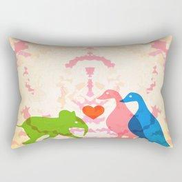 Family (Pink and Blue) Rectangular Pillow