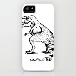 Unravelled T-Rex Dinosaur iPhone Case