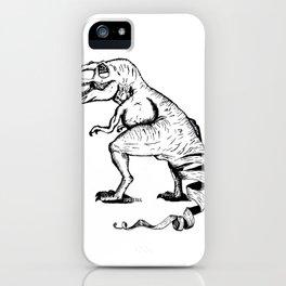 Unravelled T-Rex Dinosaur iPhone Case
