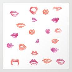 Kiss! Kiss! Art Print