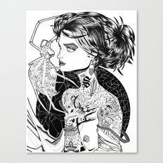 MA ROBE SE DEROBE Canvas Print