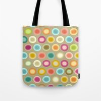 buffy Tote Bags featuring polka buffy by Sharon Turner