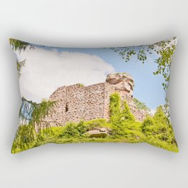 Castle ruin Hohenbourg Rectangular Pillow