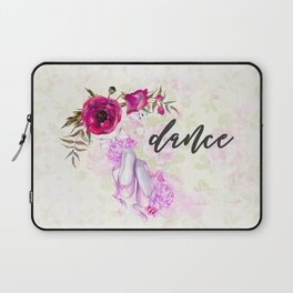 Dance with Ballet Shoes with a Floral Poppy Frame Laptop Sleeve