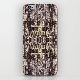 Black Int Marker iPhone Skin