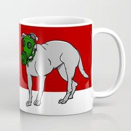 Dog Wearing A Gas Mask Coffee Mug