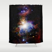 nebula Shower Curtains featuring Orion NebulA Colorful Full Image by 2sweet4words Designs