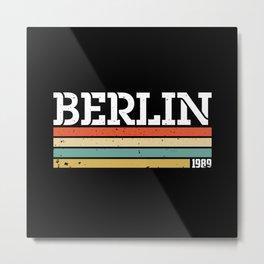 Berlin City Wall GDR 1989 Germany Gift Idea Metal Print