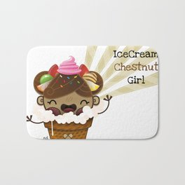Ice Cream Chestnut Girl Bath Mat