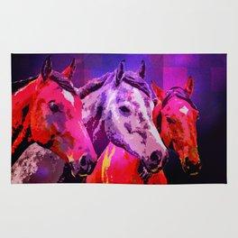 Three Horses Rug