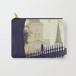 St Louis Cathedral through the trees Carry-All Pouch
