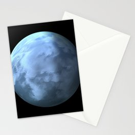Globe18/For a round heart Stationery Cards
