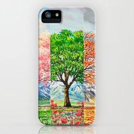 Three moods in nature iPhone Case
