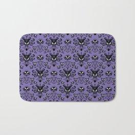 Purple Haunted Mansion Wallpaper Bath Mat