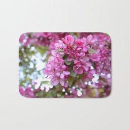 Deep pink blossom Bath Mat