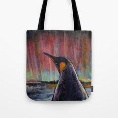Aurora Penguin Tote Bag