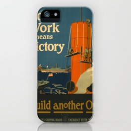 Vintage poster - Your Work Means Victory iPhone Case