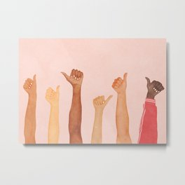 Thumbs Up! Metal Print