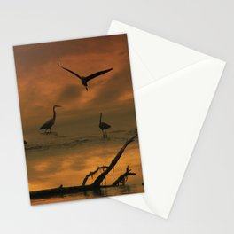 Herons at Sunset II Stationery Cards