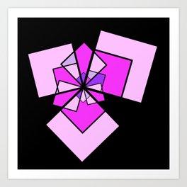 moving squares -10- Art Print