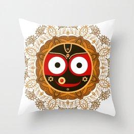 Jagannath. Indian God of the Universe. Lord Jagannatha. Throw Pillow