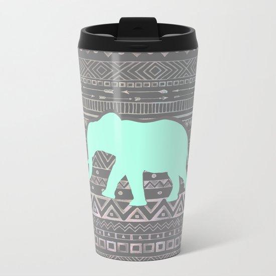 Mint Elephant  Metal Travel Mug