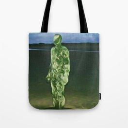 Last Iron Man on the Beach (Digital Art) Tote Bag