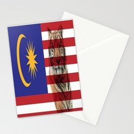 Malaysian Flag and Malayan Tiger Stationery Cards