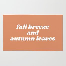 fall breeze and autumn leaves Rug