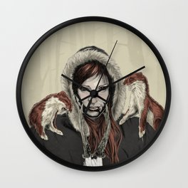 SKAÐI - Dweller of the Rocks Wall Clock