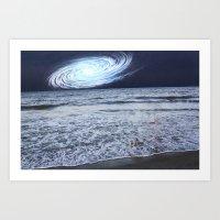 rileigh smirl Art Prints featuring Galaxy Sky by Rileigh Smirl