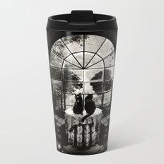 Room Skull B&W Metal Travel Mug