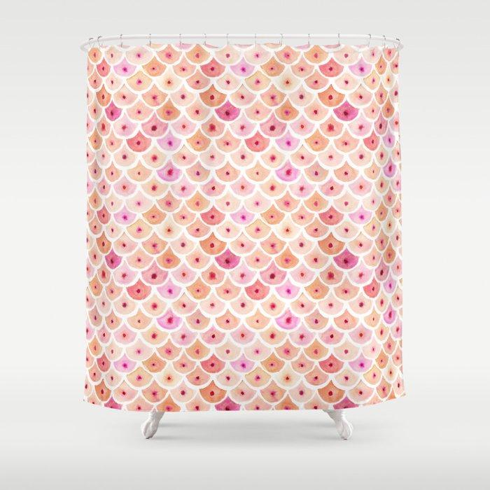 BEWBS Boobs Watercolor Scallop Shower Curtain