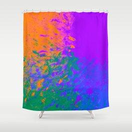 Iridescent Fury Shower Curtain
