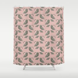 The Owl of Athena Shower Curtain