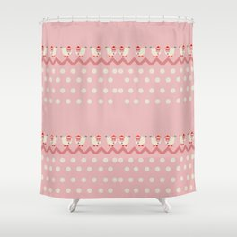 Lady Sheep and Mr. Bird Shower Curtain