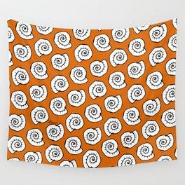 Snail - Pop art sea pattern Wall Tapestry