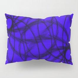Purple and Black spirals Pillow Sham