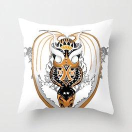 Smoking Copperhead Dragon Throw Pillow