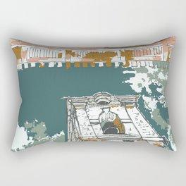 sketch by Laura Pizzicalaluna Rectangular Pillow