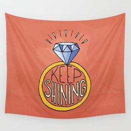 Keep Shining Wall Tapestry