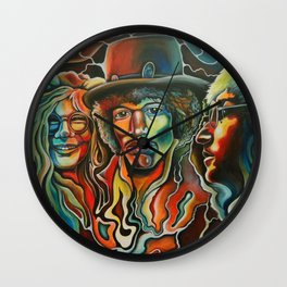 Jim, John, and Janis Wall Clock
