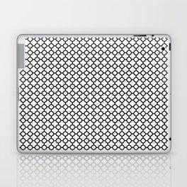 Quatrefoil Black and White Laptop & iPad Skin